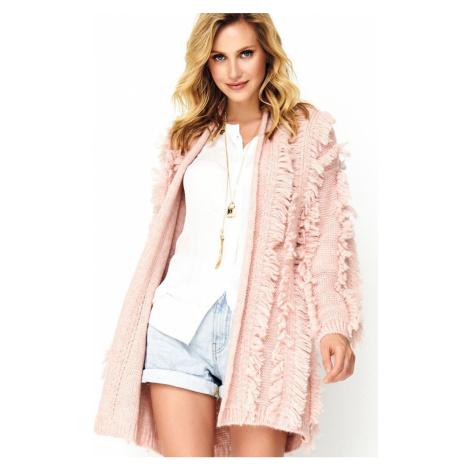 Ružový sveter S81 Makadamia