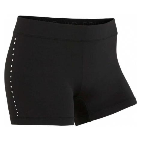 DOMYOS Dámske gymnastické šortky 100 čierne ČIERNA XS