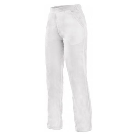 Canis Dámske biele pracovné nohavice DARJA 190