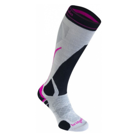 Ponožky Bridgedale Ski Lightweight Women's silver/black/852