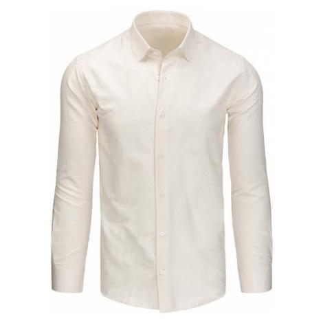 Klasická pánska košeľa béžová dx1427