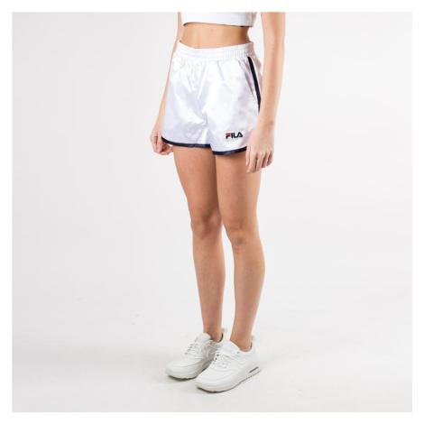 Biele saténové šortky Retro Fila