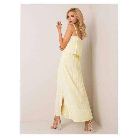RUE PARIS Light yellow maxi dress