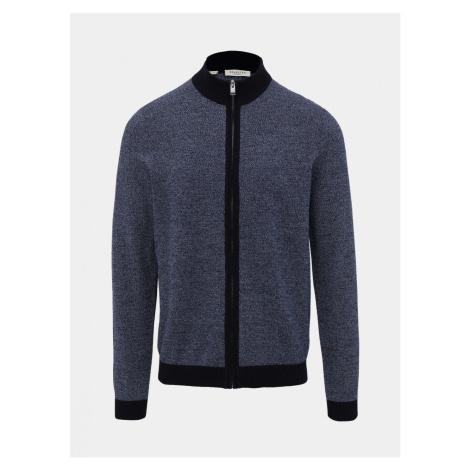 Modrý sveter na zips Selected Homme Fernando
