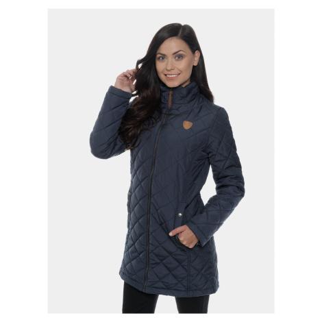 Tmavomodrý dámsky prešívaný kabát SAM 73