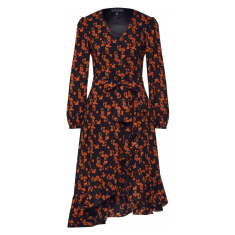 Mela London Šaty 'RUFFLE'  oranžová / čierna