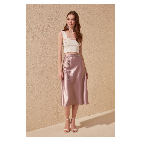 Trendyol Mink Satin Skirt