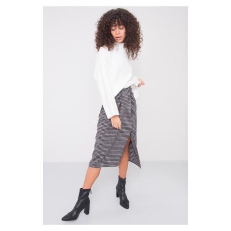 BSL Gray draped skirt