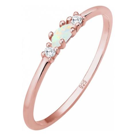 ELLI Prsteň 'Opal'  ružové zlato
