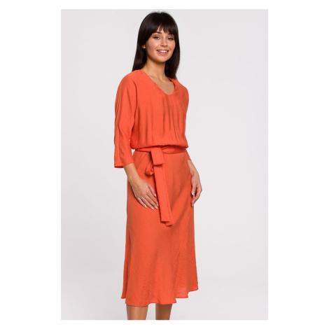 Oranžové šaty B149