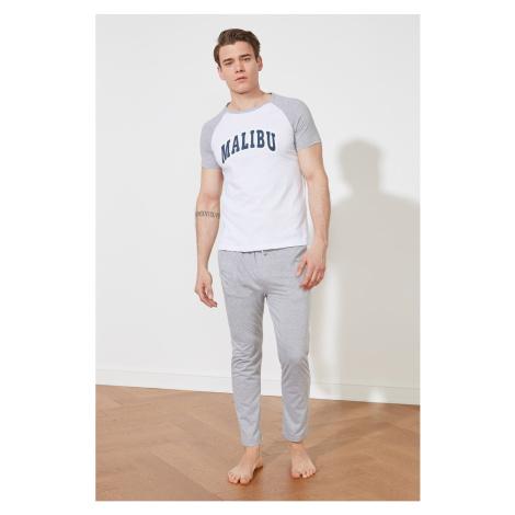 Trendyol Gray Knitted Pajamas Set