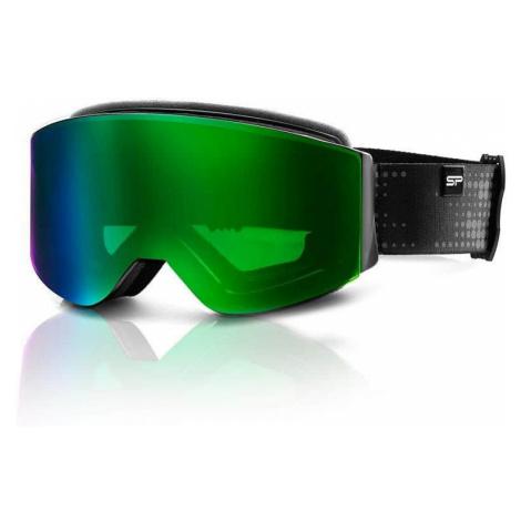 Spokey GRANBY lyžařské brýle černo-zelené