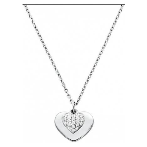 Michael Kors Strieborný náhrdelník so srdcom MKC1120AN040 (retiazka, prívesok)
