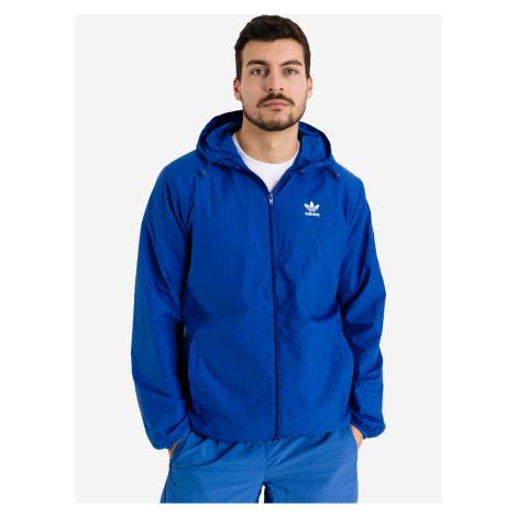Trefoil Essentials Windbreaker Bunda adidas Originals Modrá