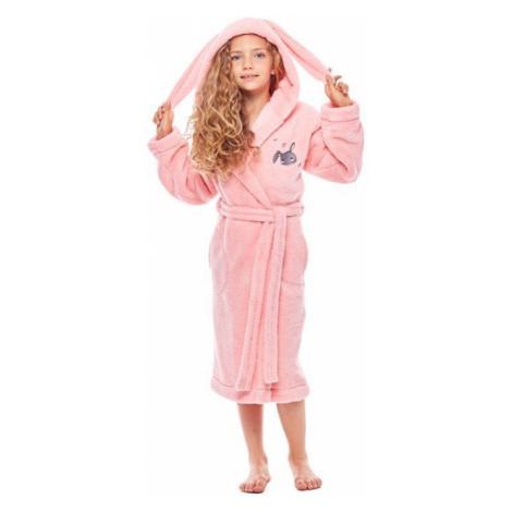 Dievčenský župan s ušami Bunny ružový L&L Collection