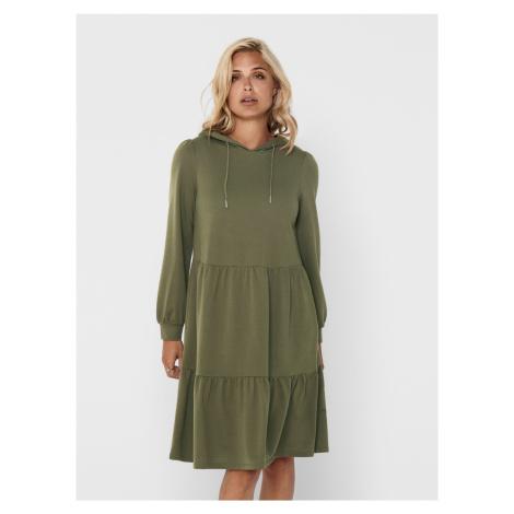 Jacqueline de Yong khaki mikinové šaty