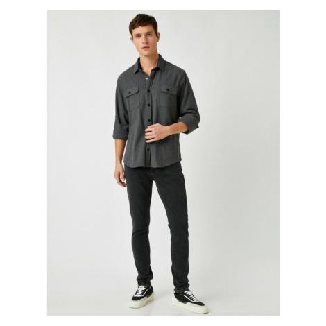 Koton Men's Gray Jean Trousers