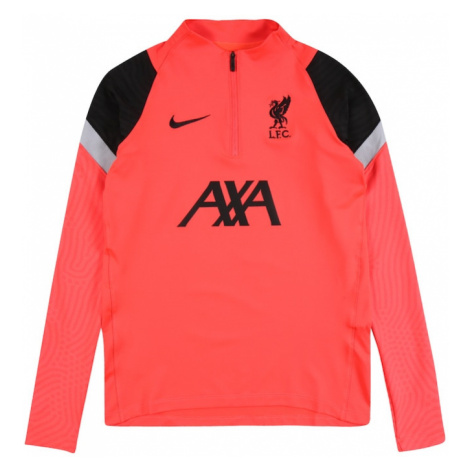 NIKE Funkčné tričko 'Liverpool FC Strike'  čierna / neónovo červená / sivá