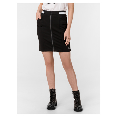 Milano Monochrome Sukně Calvin Klein Čierna