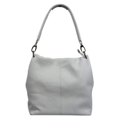 Talianská kožená kabelka Fiora Bianca