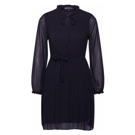 Mela London Šaty 'LONG SLEEVE PLEATED BELTED DRESS'  čierna