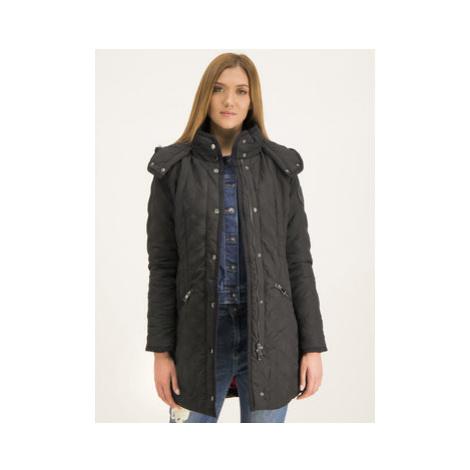 Desigual Prechodný kabát 19WWEWC4 Čierna Regular Fit