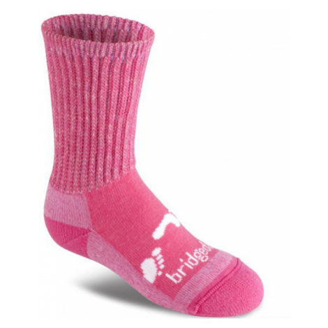 Ponožky Bridgedale Hike All Season Junior Merino Comfort Boot pink/305