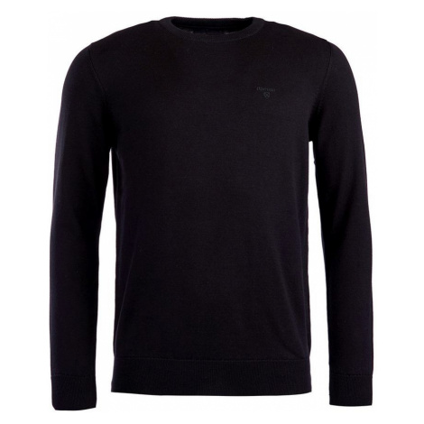 Barbour Ľahký sveter z pima bavlny Barbour Pima Cotton Crew Neck - čierny