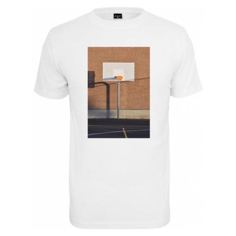 Mister Tee Tričko 'Pizza Basketball Court'  biela / hnedá