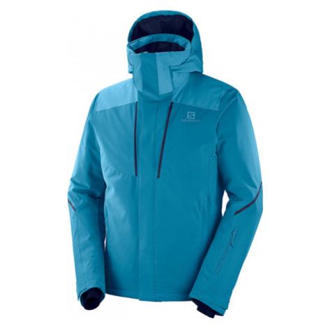 Salomon STORMSEASON JKT M modrá - Pánska lyžiarska bunda