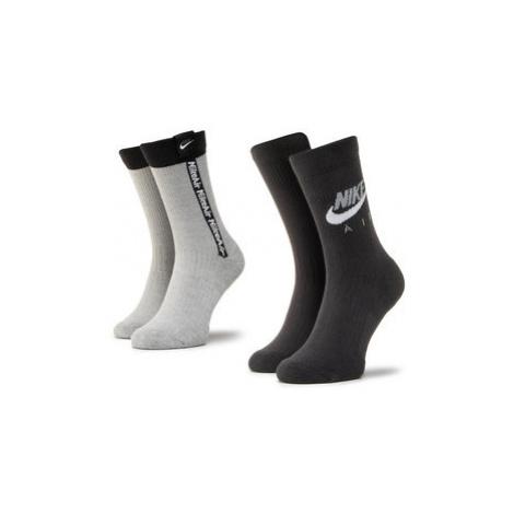 NIKE Súprava 2 párov vysokých pánskych ponožiek CK5609 904 Čierna