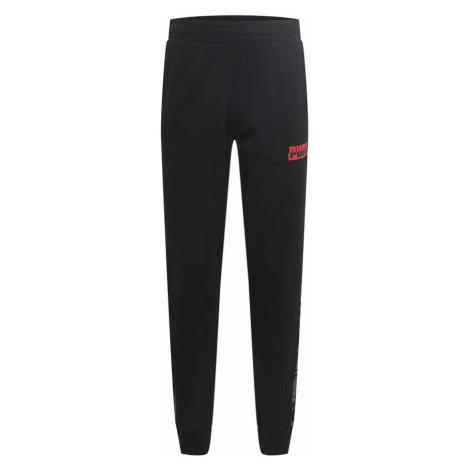 PUMA Športové nohavice  čierna / červená / sivá / svetlosivá