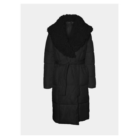 Vero Moda čierny zimný prešívaný kabát