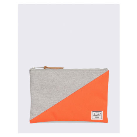 Herschel Supply Network Large Light Grey Crosshatch/ Vermillion Orange