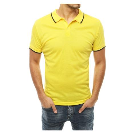 Men's yellow polo shirt PX0315 DStreet