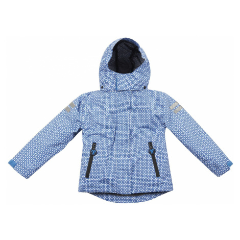DUCKSDAY Bunda 3v1 s odnímateľnou fleecovou mikinou funky blue/off-white sherpa 02Y