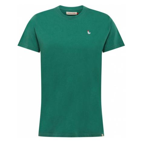 Revolution Tričko  zelená / biela / červená / hnedá