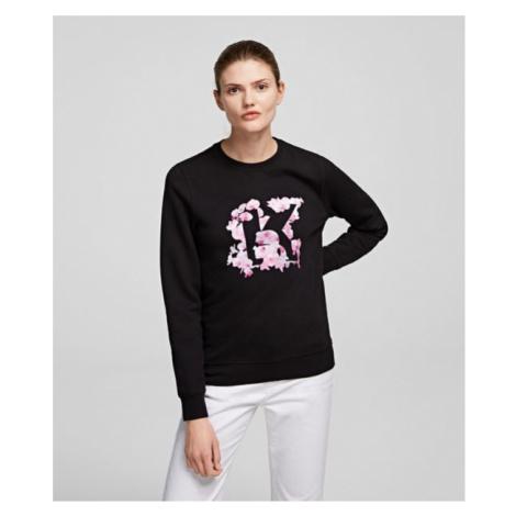 Mikina Karl Lagerfeld Orchid K Print Sweatshirt