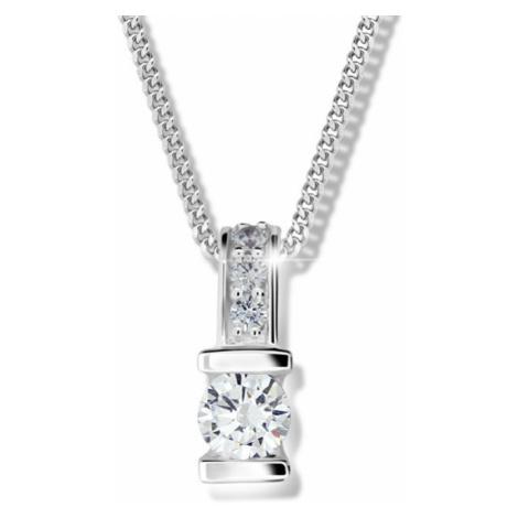 Modesi Strieborný náhrdelník pre ženy M41094 (retiazka, prívesok)