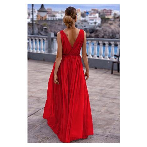 Červené dlhé šaty Agnes