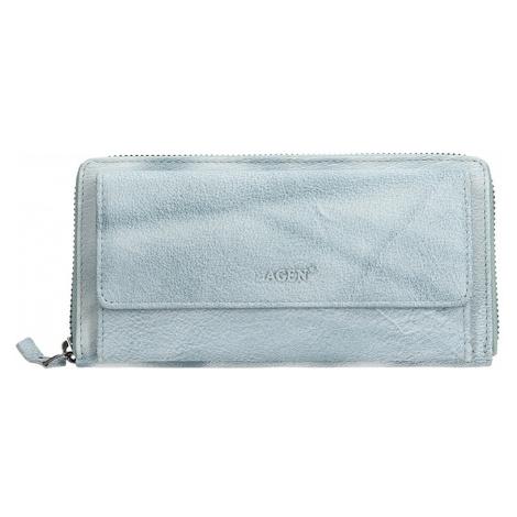 Dámska kožená peňaženka Lagen Maria - modrá