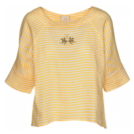 Košeľa La Martina Woman Striped Linen Blouse