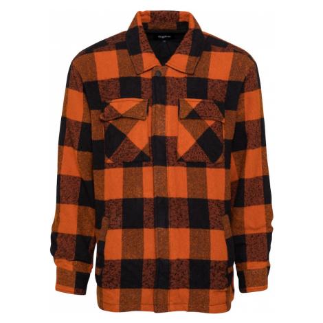 tigha Prechodná bunda 'Luke'  oranžová / čierna / čierna melírovaná
