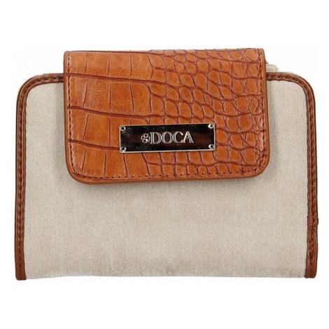 Dámska peňaženka Doca 64915 - hnedo-béžová