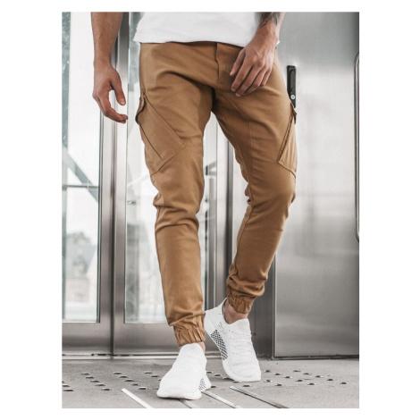 Kamelové trendy joggery A/0853