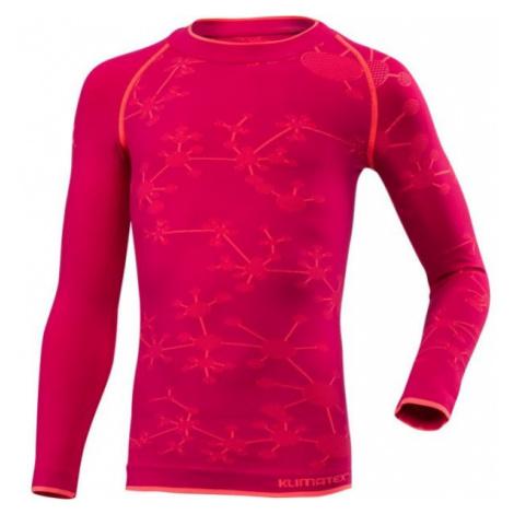 Klimatex BIGGY ružová - Funkčné dievčenské termo tričko
