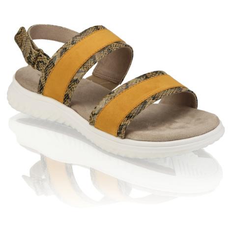 Jana textil Klasické sandále žltá