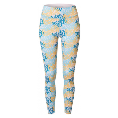 DELICATELOVE Športové nohavice 'Nadi'  biela / modrá / svetlomodrá / žltá
