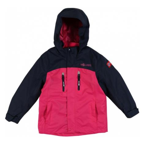 TROLLKIDS Outdoorová bunda 'Bryggen'  námornícka modrá / ružová