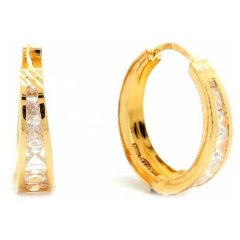 Zlaté dámske náušnice CHARIS